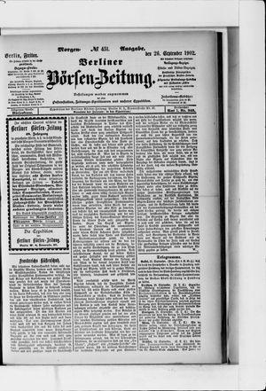 Berliner Börsen-Zeitung vom 26.09.1902