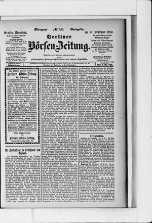 Berliner Börsen-Zeitung vom 27.09.1902