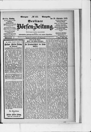 Berliner Börsen-Zeitung vom 28.09.1902