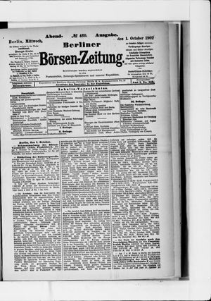 Berliner Börsen-Zeitung vom 01.10.1902