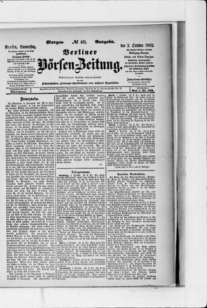 Berliner Börsen-Zeitung vom 02.10.1902