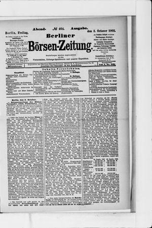 Berliner Börsen-Zeitung vom 03.10.1902