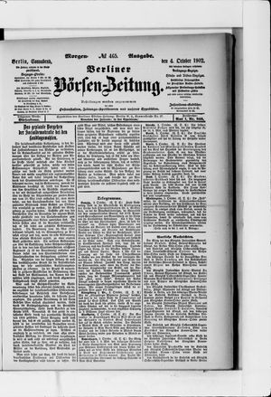Berliner Börsen-Zeitung vom 04.10.1902
