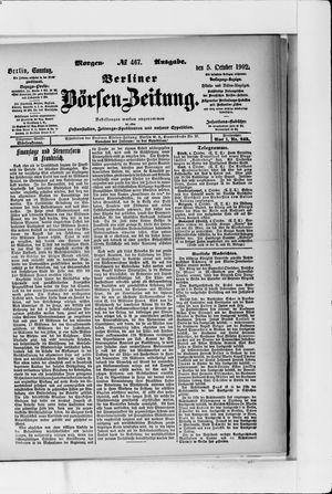 Berliner Börsen-Zeitung vom 05.10.1902