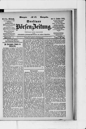 Berliner Börsen-Zeitung vom 08.10.1902