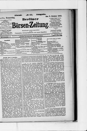 Berliner Börsen-Zeitung vom 09.10.1902