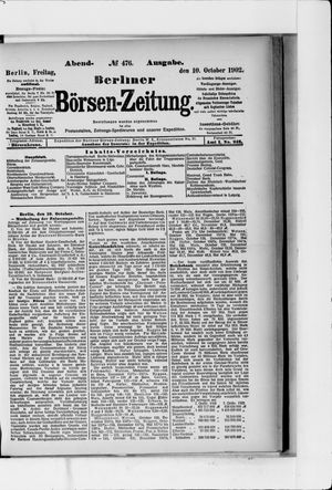 Berliner Börsen-Zeitung vom 10.10.1902