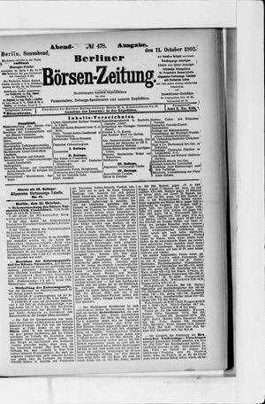 Berliner Börsen-Zeitung vom 11.10.1902