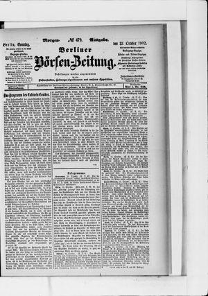 Berliner Börsen-Zeitung vom 12.10.1902