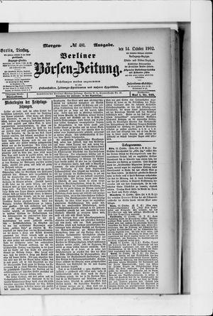 Berliner Börsen-Zeitung vom 14.10.1902