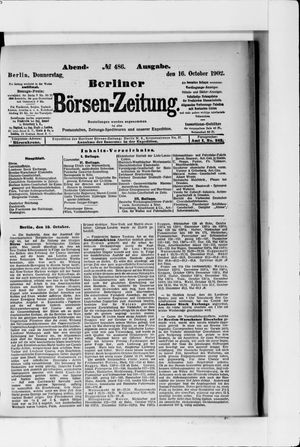Berliner Börsen-Zeitung vom 16.10.1902