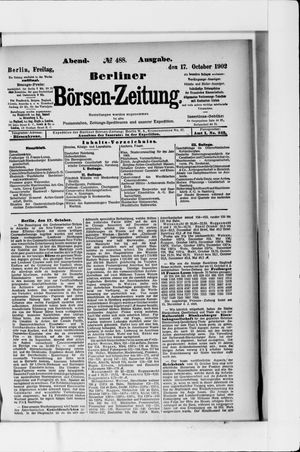 Berliner Börsen-Zeitung vom 17.10.1902