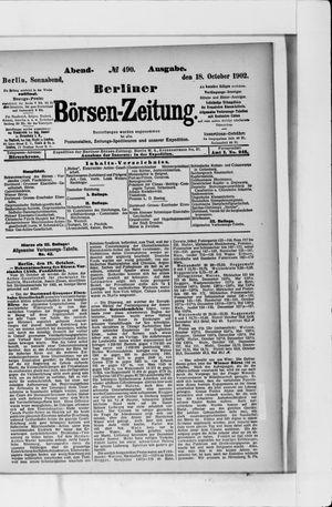 Berliner Börsen-Zeitung vom 18.10.1902