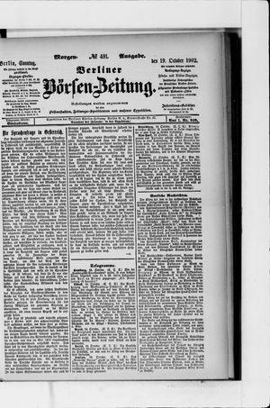 Berliner Börsen-Zeitung vom 19.10.1902