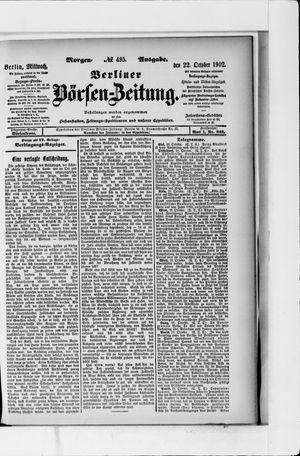 Berliner Börsen-Zeitung vom 22.10.1902