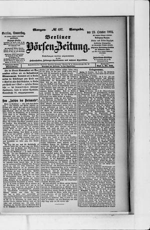 Berliner Börsen-Zeitung vom 23.10.1902