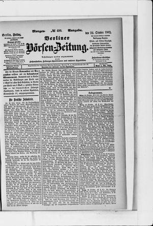Berliner Börsen-Zeitung vom 24.10.1902