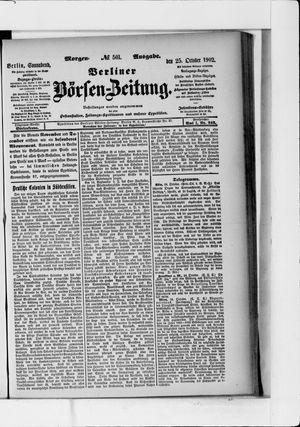 Berliner Börsen-Zeitung vom 25.10.1902