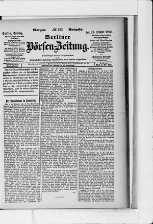 Berliner Börsen-Zeitung vom 26.10.1902