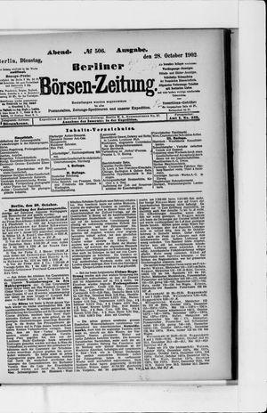 Berliner Börsen-Zeitung vom 28.10.1902