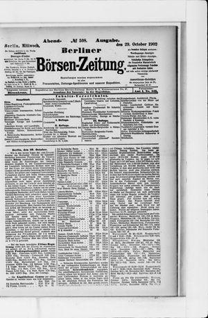 Berliner Börsen-Zeitung vom 29.10.1902