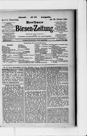 Berliner Börsen-Zeitung vom 30.10.1902