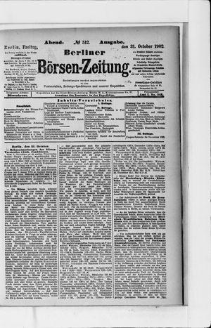 Berliner Börsen-Zeitung vom 31.10.1902