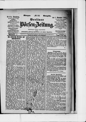 Berliner Börsen-Zeitung vom 01.11.1902