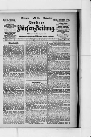 Berliner Börsen-Zeitung vom 02.11.1902