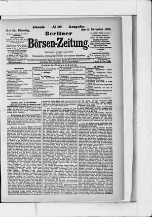 Berliner Börsen-Zeitung vom 04.11.1902