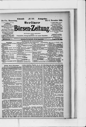 Berliner Börsen-Zeitung vom 06.11.1902
