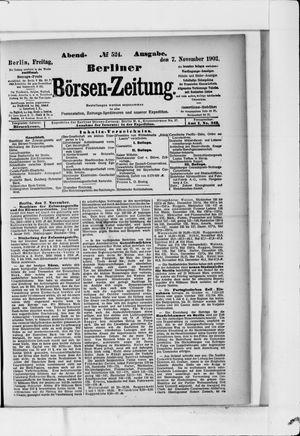 Berliner Börsen-Zeitung vom 07.11.1902