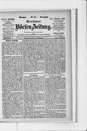 Berliner Börsen-Zeitung vom 08.11.1902