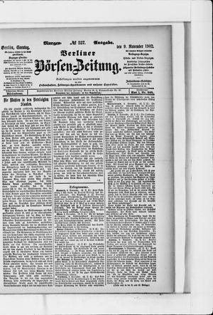 Berliner Börsen-Zeitung vom 09.11.1902
