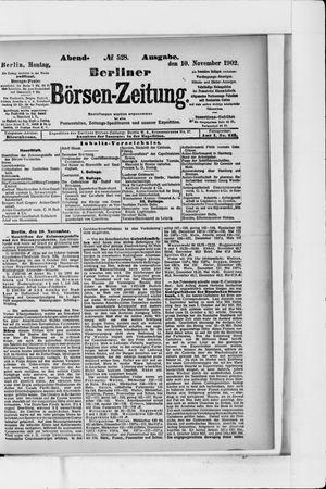 Berliner Börsen-Zeitung vom 10.11.1902
