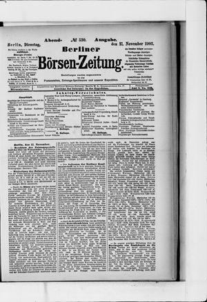 Berliner Börsen-Zeitung vom 11.11.1902