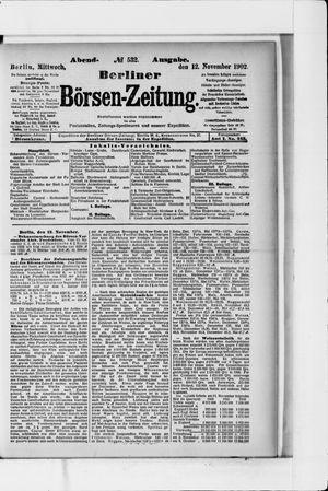 Berliner Börsen-Zeitung vom 12.11.1902