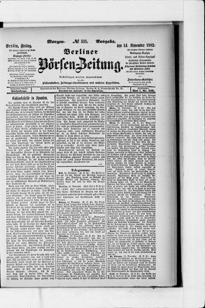 Berliner Börsen-Zeitung vom 14.11.1902