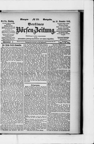 Berliner Börsen-Zeitung vom 16.11.1902