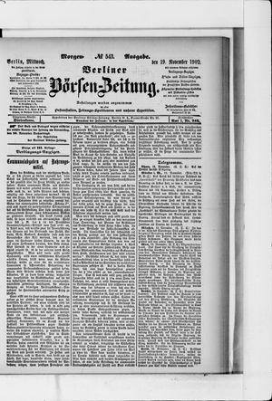 Berliner Börsen-Zeitung vom 19.11.1902