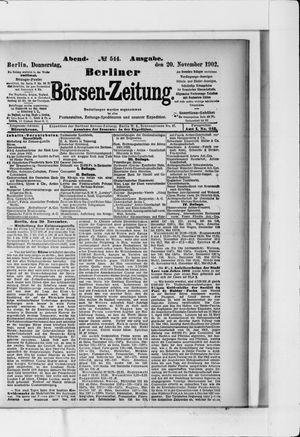 Berliner Börsen-Zeitung vom 20.11.1902