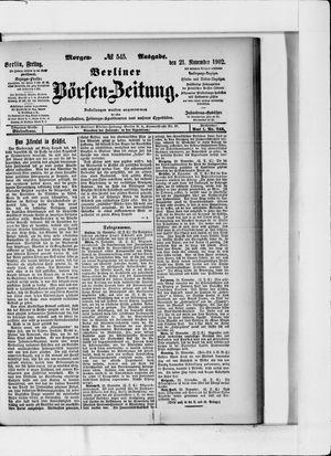 Berliner Börsen-Zeitung vom 21.11.1902