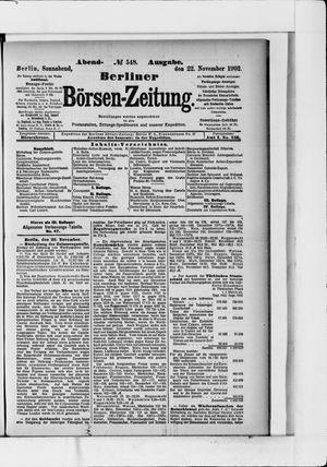Berliner Börsen-Zeitung vom 22.11.1902
