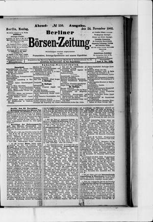 Berliner Börsen-Zeitung vom 24.11.1902