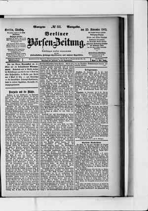 Berliner Börsen-Zeitung vom 25.11.1902