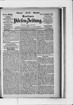 Berliner Börsen-Zeitung vom 26.11.1902