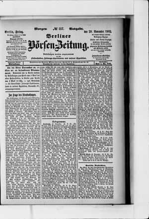 Berliner Börsen-Zeitung vom 28.11.1902