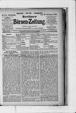 Berliner Börsen-Zeitung vom 29.11.1902