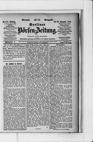 Berliner Börsen-Zeitung vom 30.11.1902