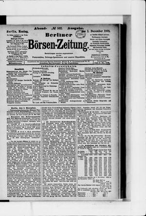 Berliner Börsen-Zeitung vom 01.12.1902